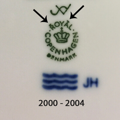 Royal Copenhagen markings 2000-2004