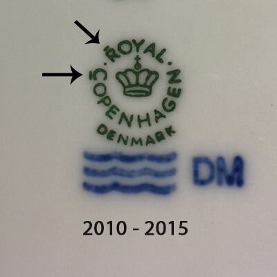 Royal Copenhagen markings 2010-2015