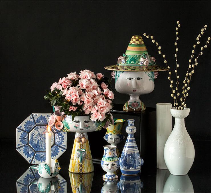 Bjorn Wiinblad figurine vases