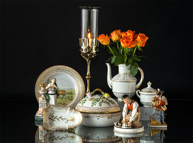 Royal Copenhagen Flora Danica and Hans Christian Andersen figurines and B&G Offenbach tableware