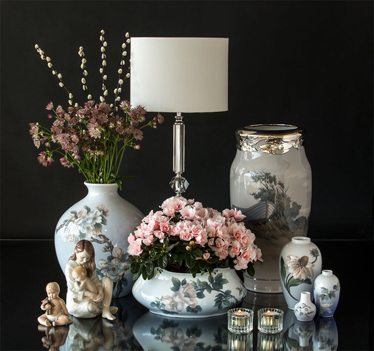 Royal Copenhagen B&G vases and figurines